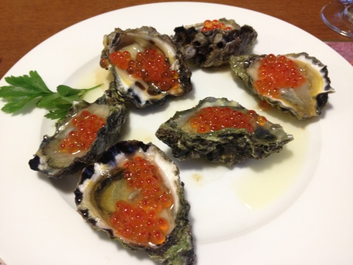 2013-03-31 oysters with salmon roe